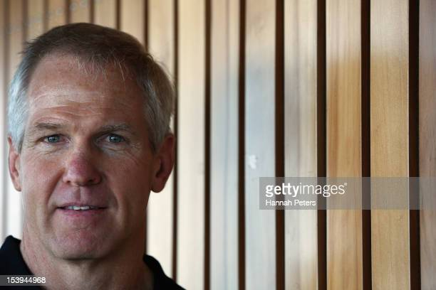 Newly appointed head coach Matthew Elliot poses for a photo during a New Zealand Warriors NRL press conference at SkyCity Convention Centre on...
