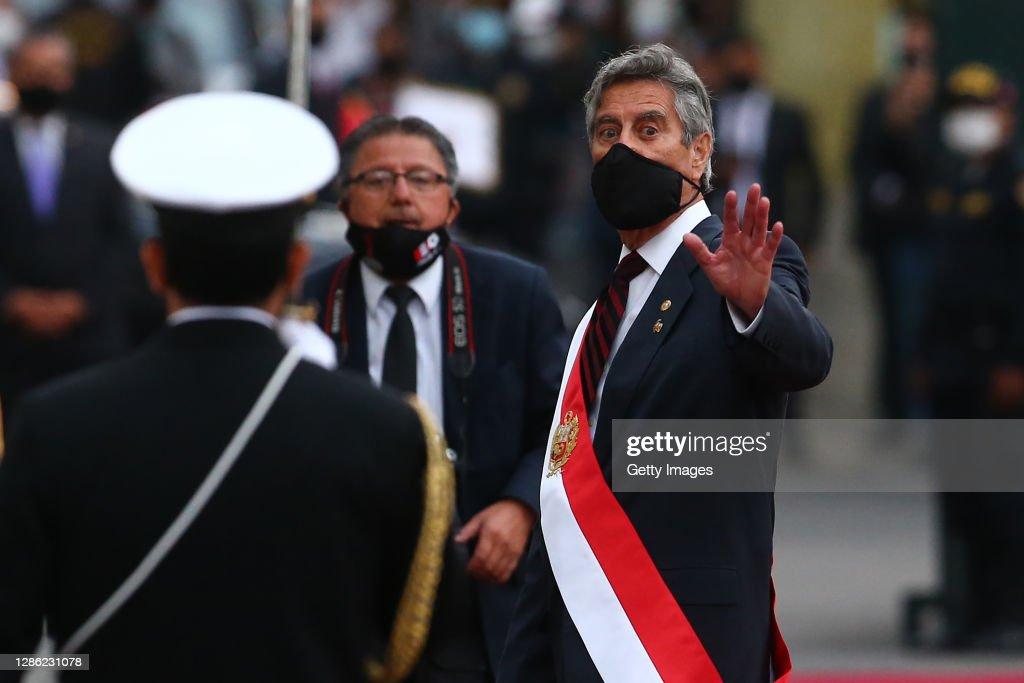 Newly Appointed Interim President Francisco Sagasti Takes Oath : News Photo