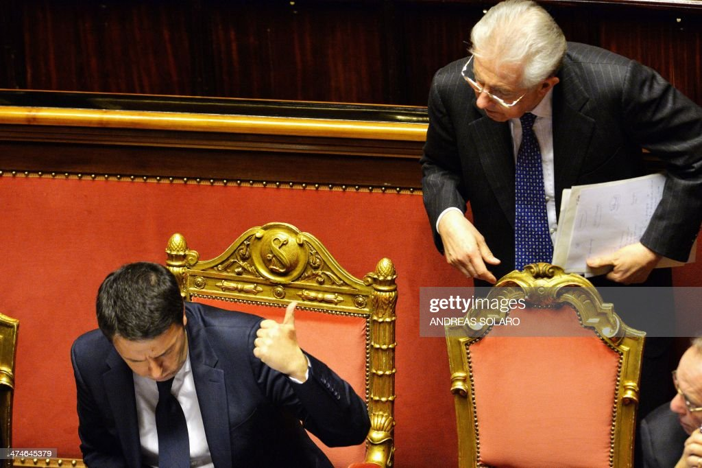ITALY-POLITICS-GOVERNMENT-CONFIDENCE : News Photo