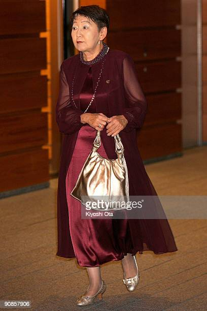 Newly appointed Justice Minister Keiko Chiba leaves the Prime Minister's official residence on September 16 2009 in Tokyo Japan Hatoyama and the...