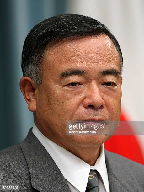 Newly appointed Land Infrastructure Transport and Tourism Minister Nariaki Nakayama speaks during a press conference at the Prime Minister's official...