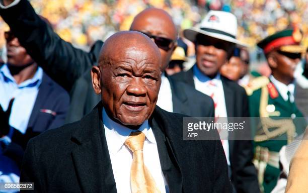 Newly appointed Lesotho prime Minister Thomas Thabane , leader of the All Basotho Convention political party, arrives to attend his inauguration on...