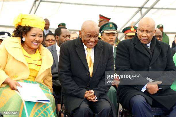Newly appointed Lesotho prime Minister Thomas Thabane leader of the All Basotho Convention political party his wife Maesaiah Thabane and Lesotho King...