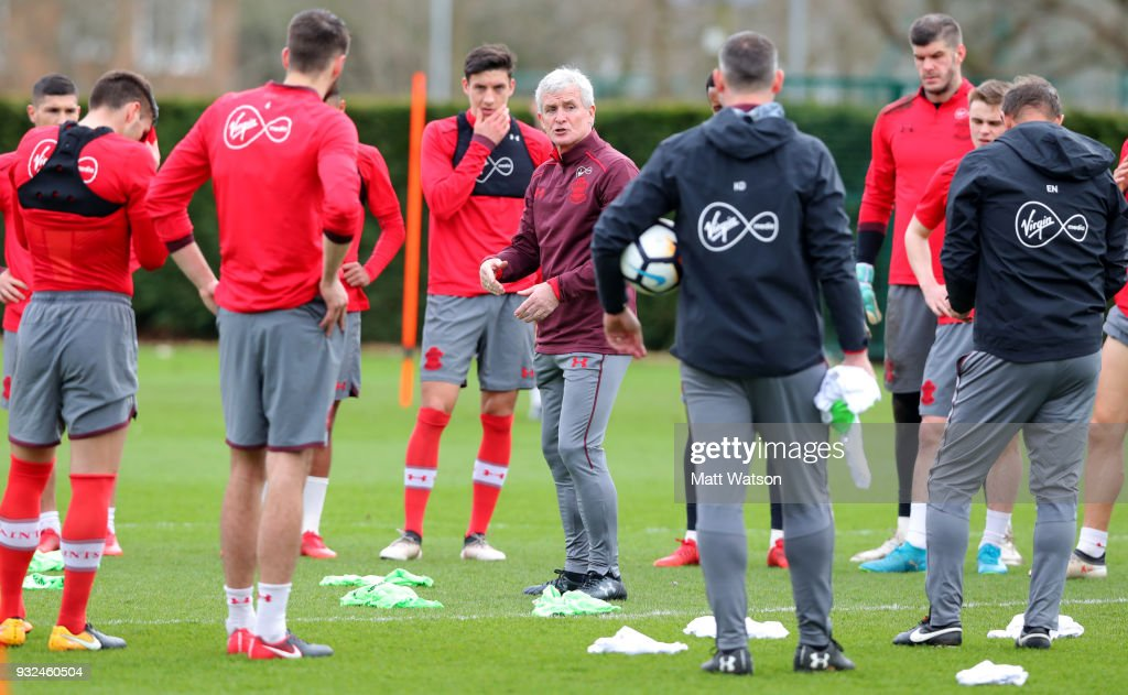 Mark Hughes First Day As Southampton Manager : News Photo