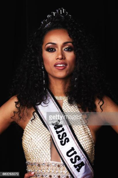 Newly appointed Miss USA 2017 winner Kára McCullough Miss District Of Columbia poses for her Miss USA Portrait at Mandalay Bay Resort and Casino on...