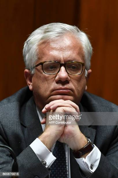 Newly appointed Portuguese Interior minister Eduardo Cabrita attends the debate of a censure motion tabled by the conservative CDSPP party at the...