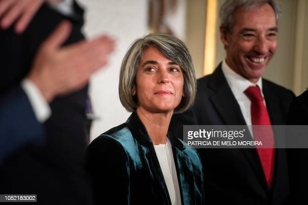 Newly appointed Portuguese Minister Minister of Culture Grazia Maria de Fonseca Gonzalez attends a swearingin ceremony to appoint new members of the...
