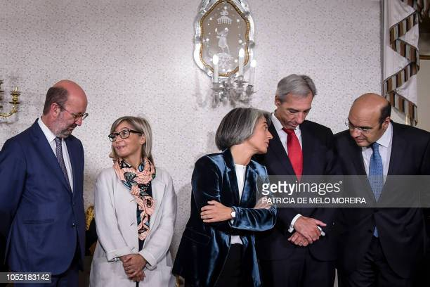 Newly appointed Portuguese Minister of Economy minister, Pedro Gramaxo de Carvalho Siza Vieira, Minister of Defence, Joao Titterington Gomes...