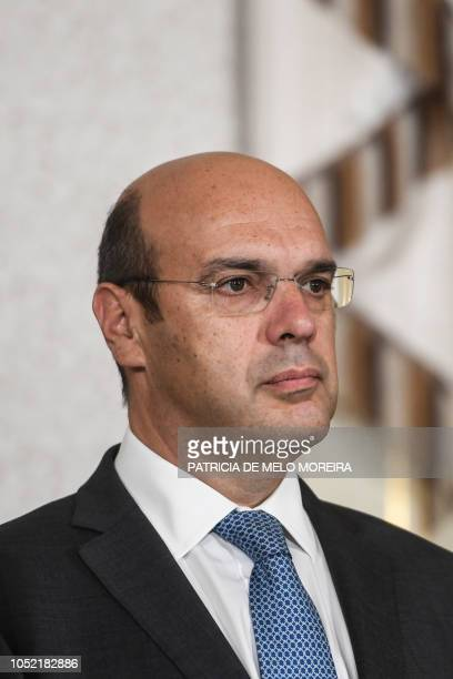 Newly appointed Portuguese Minister of Economy Pedro Gramaxo de Carvalho Siza Vieira attends a swearingin ceremony to appoint new members of the XXI...