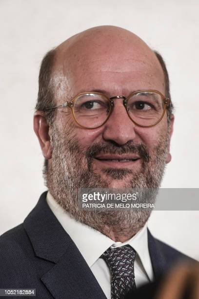 Newly appointed Portuguese Minister of the Environment and Energy Transition Joao Pedro Soeiro de Matos Fernandes attends a ceremony to appoint new...