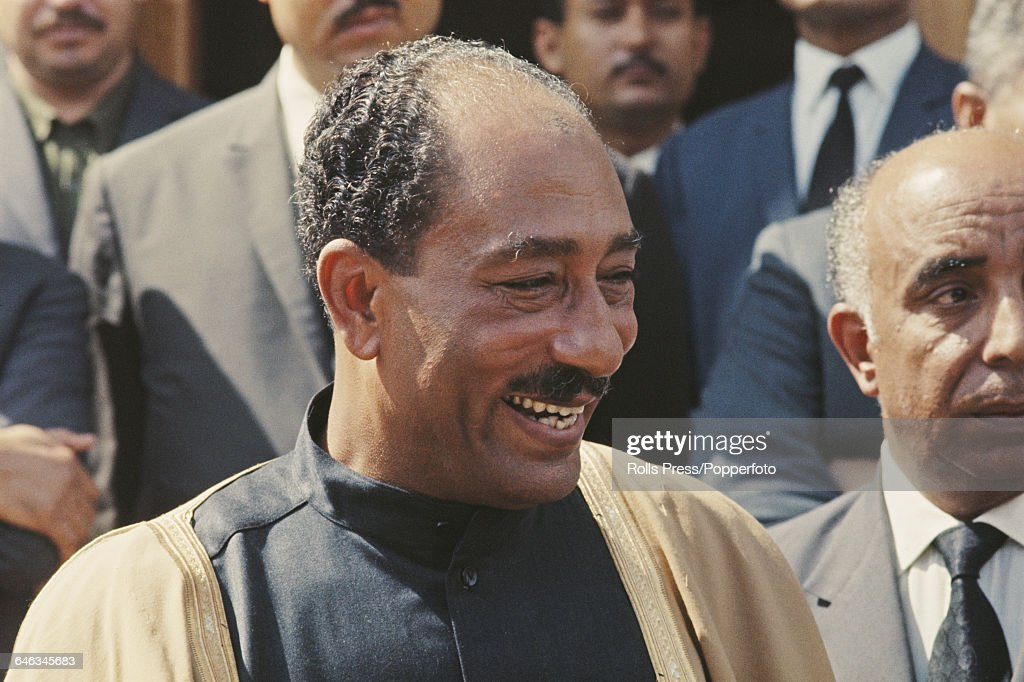 President Anwar Sadat Of Egypt : News Photo