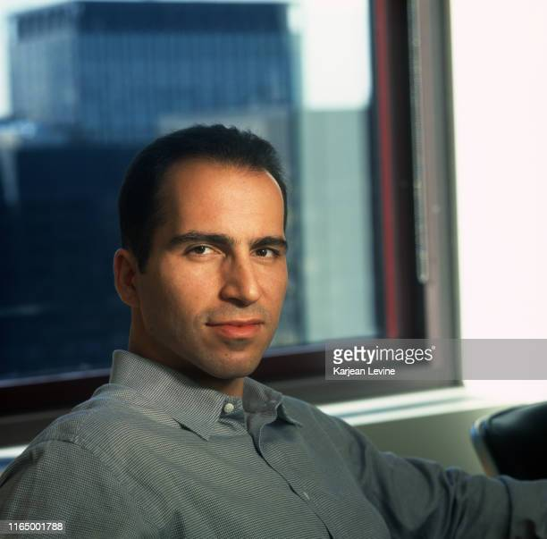 Newly appointed president of USA Network Dara Khosrowshahi poses for a portrait at the company's headquarters on October 19 1999 in New York City New...