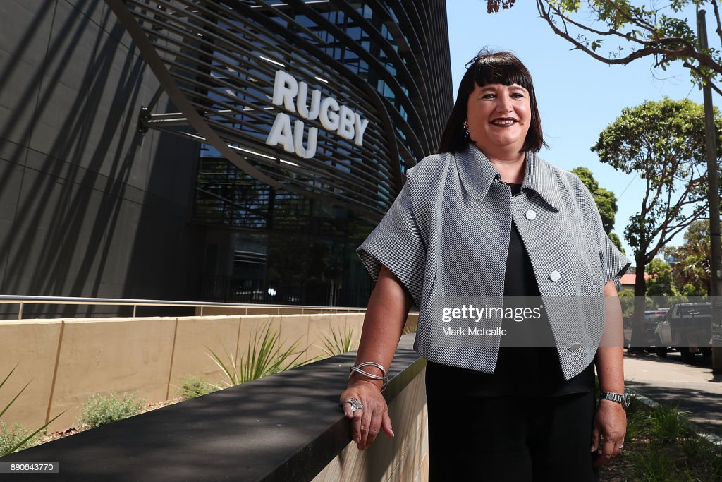 Newly appointed Rugby Australia Chief Executive Officer Raelene Castle poses during a press conference at the Rugby Australia Building on December 12, 2017 in Sydney, Australia.