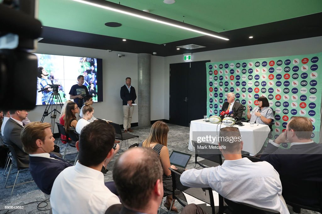 Newly appointed Rugby Australia Chief Executive Officer Raelene Castle speaks to the media during a press conference at the Rugby Australia Building on December 12, 2017 in Sydney, Australia.
