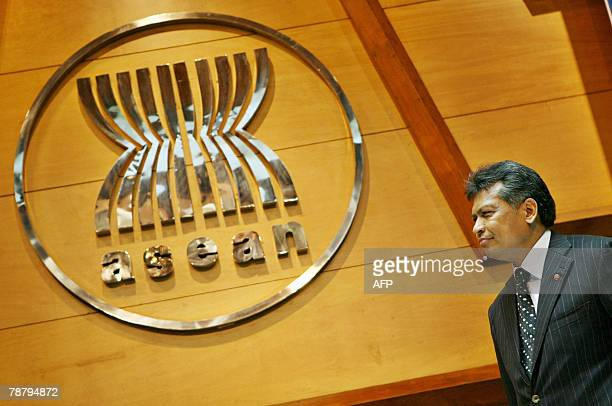 Newly appointed secretary General of the Association of Southeast Asian Nations Surin Pitsuwan looks on during a ceremony in Jakarta, 07 January...