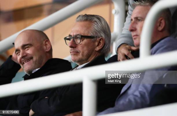 Newly appointed Socceroos coach Bert van Marwijk looks on during the round 19 ALeague match between Sydney FC and the Wellington Phoenix at Allianz...