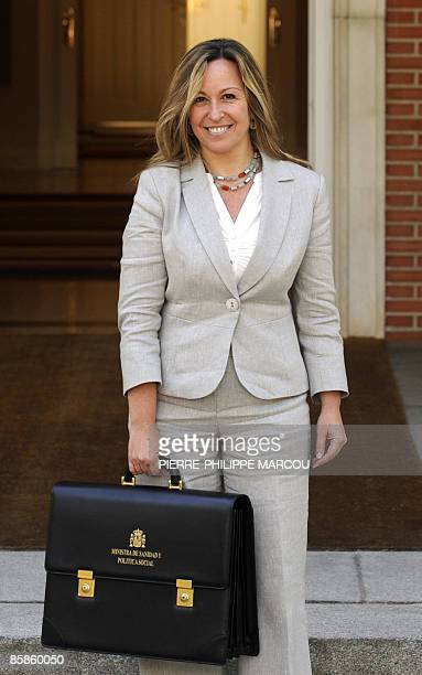 Newly appointed Spanish Health and Social Affairs Minister Trinidad Jimenez arrives at the Moncloa Palace for a cabinet meeting on April 8, 2009 in...