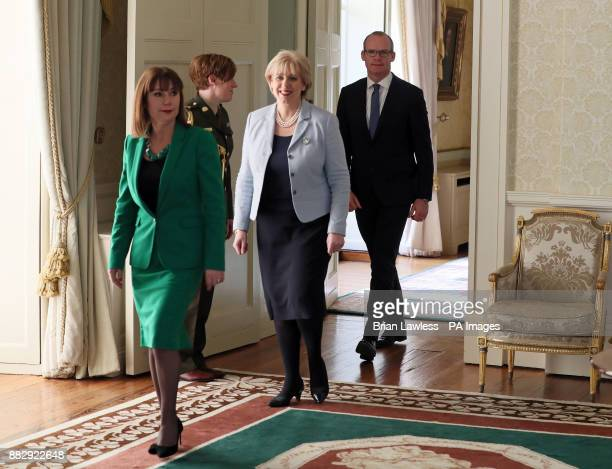 Newly appointed Tanaiste Simon Coveney Minister for Business Enterprise and Innovation Heather Humphreys and Minister for Culture Heritage and the...