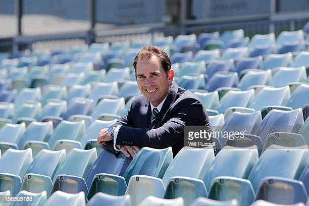 Newly appointed Western Australia Warriors coach Justin Langer poses for a portrait at the WACA on November 14 2012 in Perth Australia
