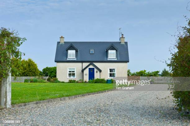 Newly built bungalow on road to Kilmore on the south coast of Ireland EU funds led to 'Celtic tiger' investment in the Republic