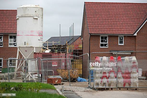 Newly built homes on an estate in Northwich Cheshire on August 2 2016 in Northwich England Home ownership across the country has seen a sharp drop...