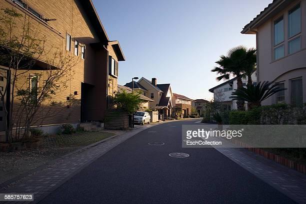 Newly built neighborhood in suburban Osaka, Japan