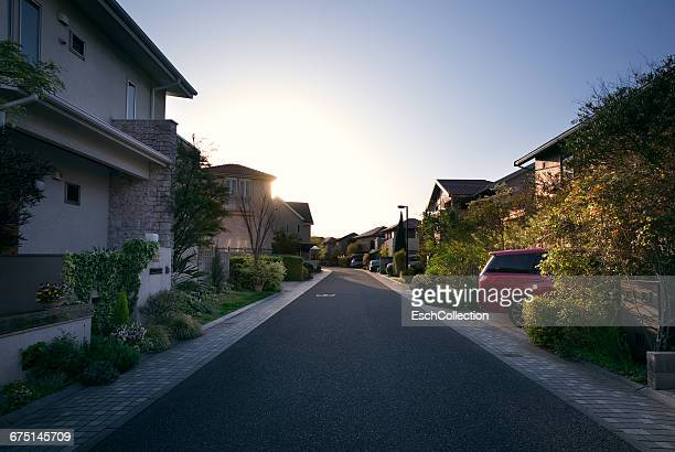 newly built neighbourhood in suburban osaka, japan - region kinki stock-fotos und bilder