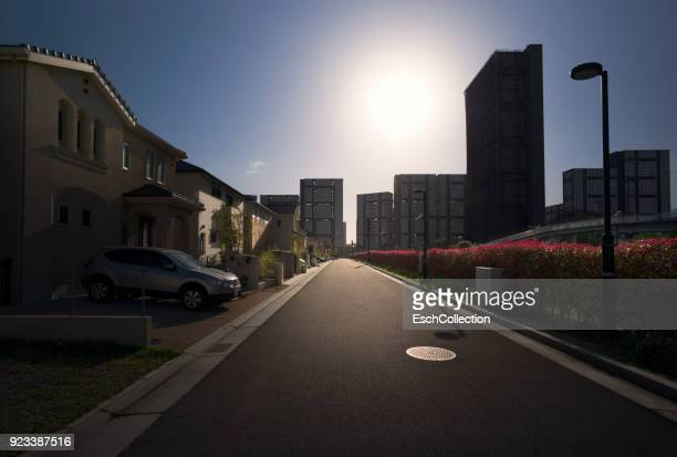 Newly built neighbourhood in suburban Osaka, Japan