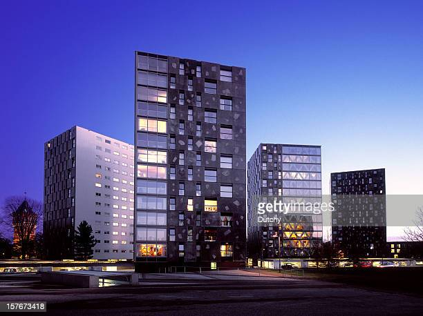 Newly built residential and business area in The Netherlands