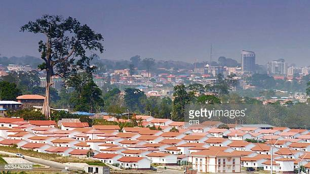 Newly constructed homes are seen in a neighbourhood of the Equatorial Guinea capital Malabo on April 22 2016 / AFP / STR