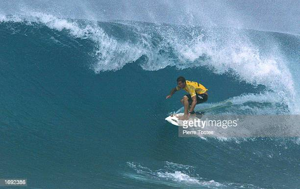 Newly crowned ASP world champion Andy Irons of Hawaii USA riding the tube has won the Xbox Pipeline Masters at the Banzai Pipeline on the North Shore...