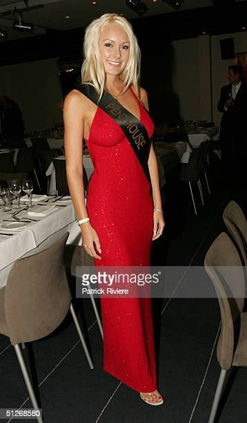 Newly crowned Australian Penthouse Pet Of The Year Brooke Fricklington at the announcement for the 25th anniversary of the magazine at the...
