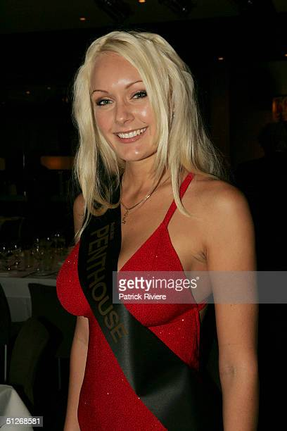 Newly crowned Australian Penthouse Pet Of The Year Brooke Fricklington attends the announcement for the 25th anniversary of the magazine at the...