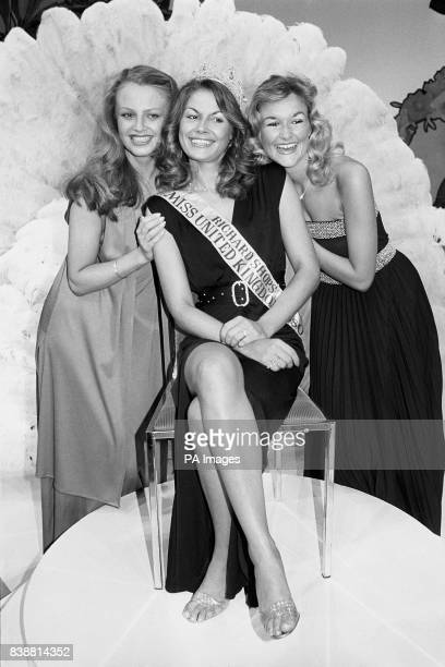 Newly crowned Miss United Kingdom Kim Ashfield from Clywd Wales and her two runnersup Nikki Wright from Bournemouth and Julie Duckworth from...