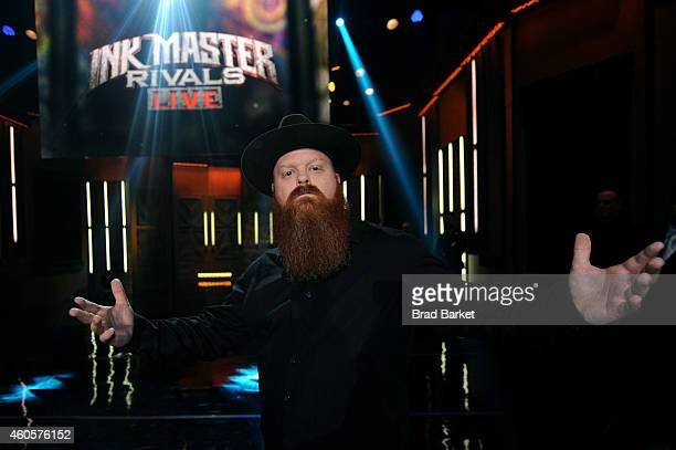 Newly crowned season 5 'Ink Master' winner Jason Clay Dunn at 'Ink Master' Season Five Live Finale at Manhattan Center Grand Ballroom on December 16...