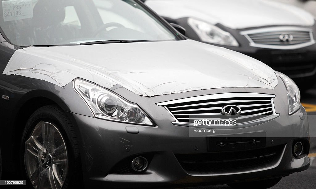 Cars On Display At Nissan Infiniti Dealership Pictures Getty Images