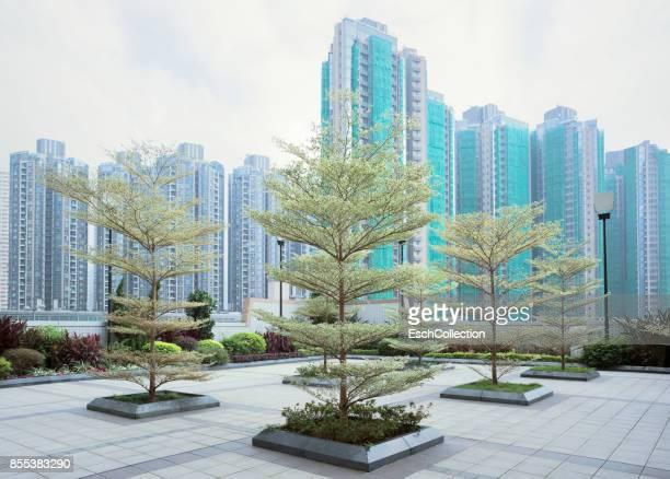 Newly developed residential neighborhood, Hong Kong