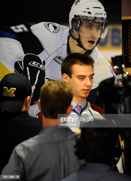 DENVER CO Newly drafted Avalanche player Duncan Siemens at Pepsi Center Tuesday morning Siemens a defenseman was selected 11th in round one of the...