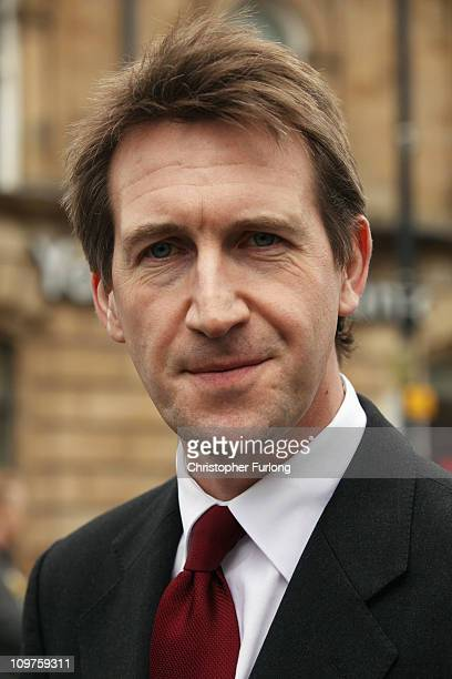 Newly elected Barnsley MP Dan Jarvis talks to the people of Barnsley during a walkabout with Labour party leader Ed Miliband after last nights...