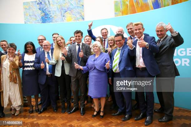 Newly elected Brexit Party Members of the European Parliament are seen during the EU election results press conference in Westminster The newly...