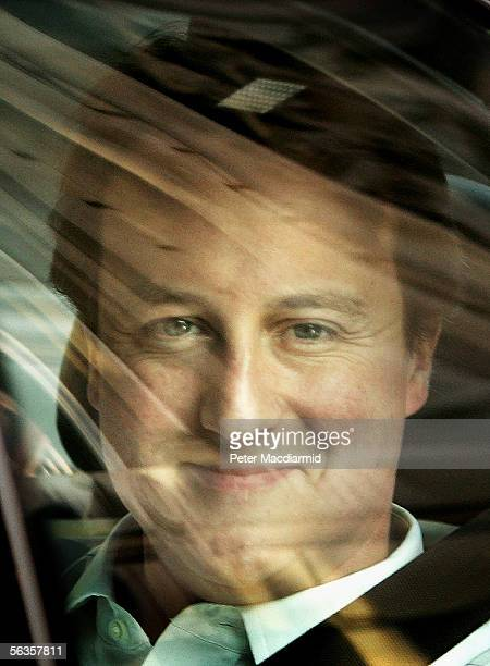 Newly elected Conservative Party leader David Cameron leaves his parliamentary office on December 7 2005 in London David Cameron faced Prime Minister...