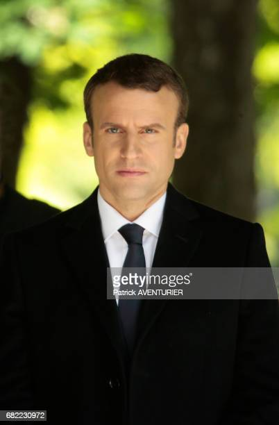 Newly elected French president Emmanuel Macron attends a ceremony at the Luxembourg Gardens to mark the abolition of slavery and to pay tribute to...