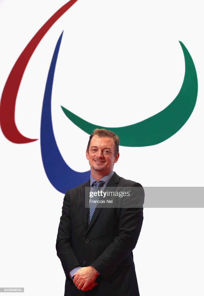 Newly elected International Paralympic Committee President Andrew Parsons poses for a portrait during the IPC General Assembly and Conference 2017 at Abu Dhabi National Exhibition Centre on September 8, 2017 in Abu Dhabi, United Arab Emirates.