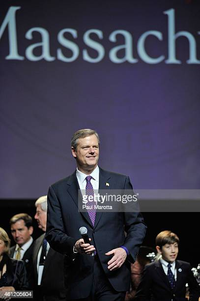 Newly elected Massachusetts Republican Governor Charlie Baker speaks to supporters at Governor Charlie Baker's Let's Be Great Massachusetts Inaugural...