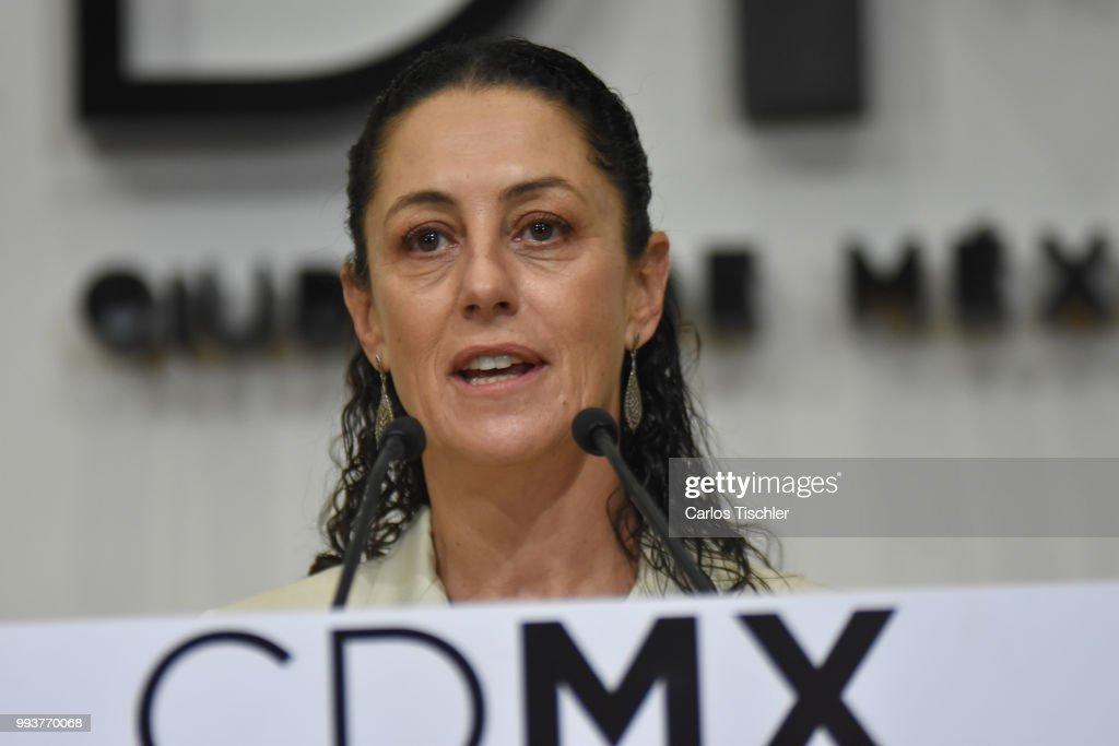 Press Conference of Claudia Sheinbaum : News Photo