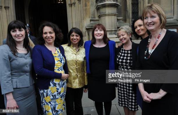 Newly elected MP for South Shields Emma LewellBuck is welcomed to the House of Commons in London today by fellow MPs Briget Philipson Julie Elliott...