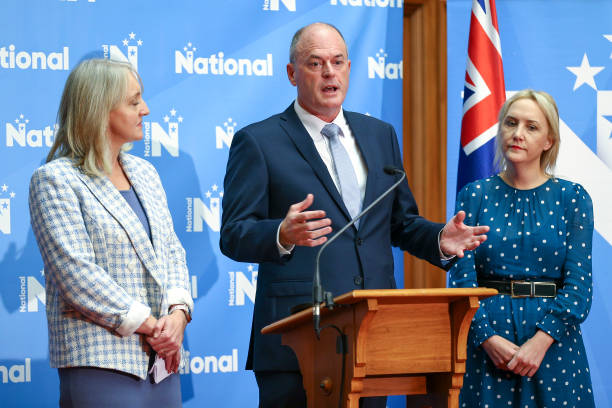 NZL: National Party Leader Todd Muller Announces New Party Line Up