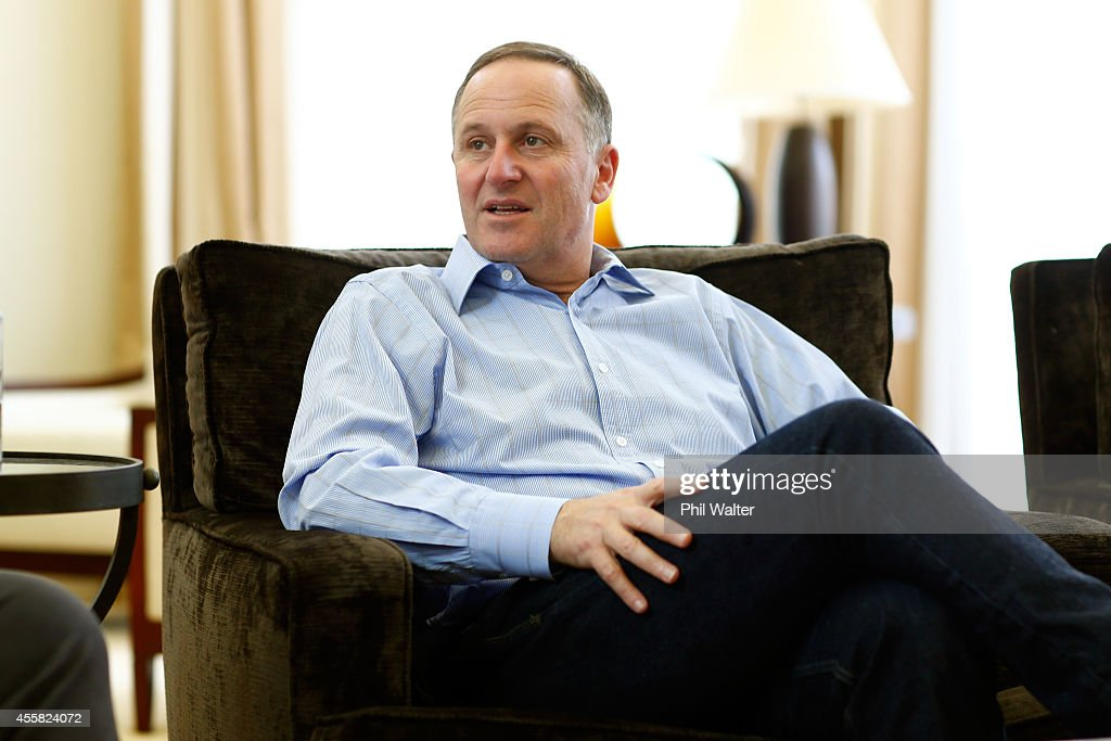 Newly Elected Prime Minister John Key Relaxes At Home After Election Victory : News Photo