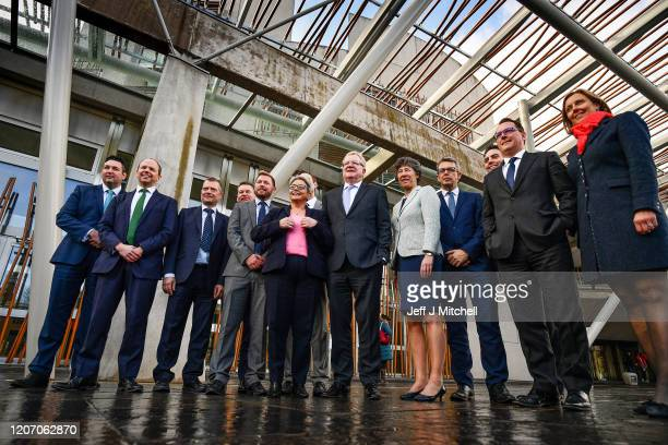 Newly elected Scottish Conservative leader Jackson Carlaw unveils the party's new shadow cabinet to take on the SNP Miles Briggs Health Donald...