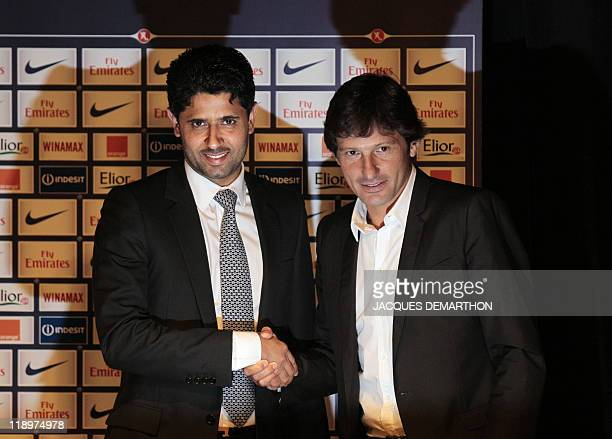Newly elected supervisory board president of the Paris SaintGermain Nasser AlKhelaifi of Qatar president of majority shareholders Qatar Sports...